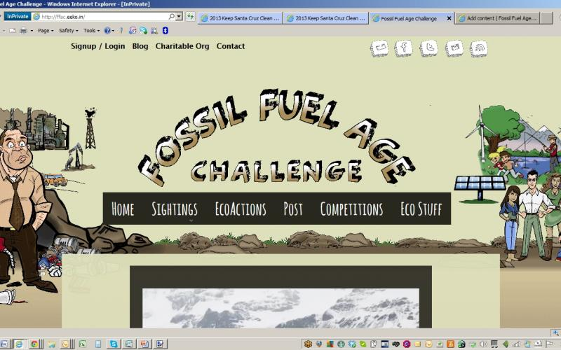 Fossil Fuel Age Challenge Website