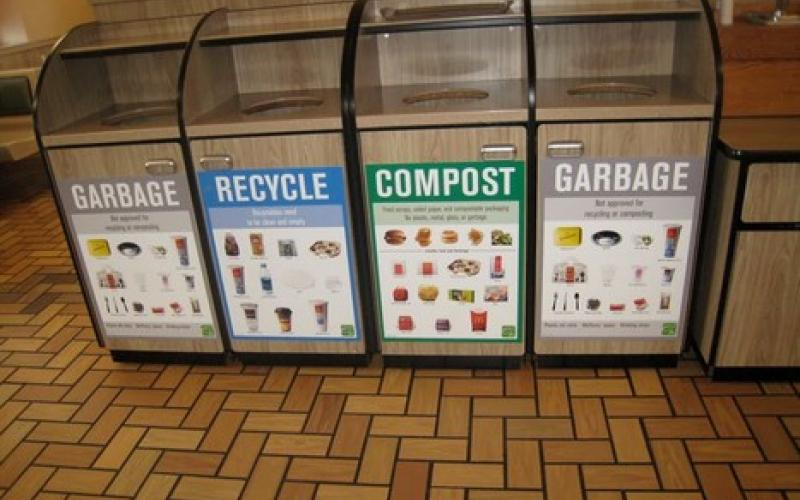 Recycling and Compost bins at McDonalds?
