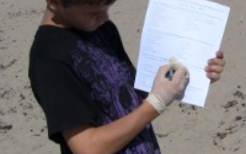 Tanner with Scavenger Hunt instructions