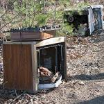 Appliances and trash in Worcester